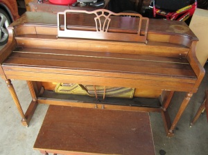 upright piano vintage story clark